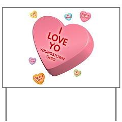 I Love YO-Candy Yard Sign