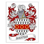 Barton Coat of Arms Small Poster