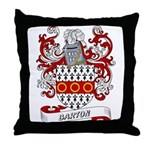 Barton Coat of Arms Throw Pillow