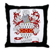 Barton Coat of Arms Throw Pillow