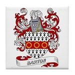 Barton Coat of Arms Tile Coaster