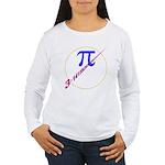 Pi-receding Women's Long Sleeve T-Shirt