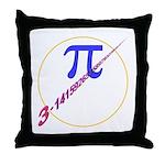 Pi-receding Throw Pillow