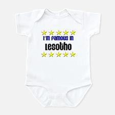 I'm Famous in Lesotho Infant Bodysuit