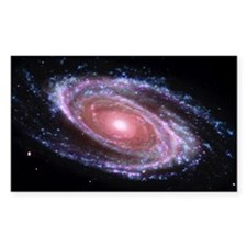 Pink Spiral Galaxy Rectangle Bumper Stickers