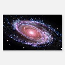 Pink Spiral Galaxy Sticker (Rectangle)