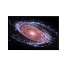 Pink Spiral Galaxy Rectangle Magnet
