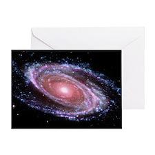Pink Spiral Galaxy Greeting Card