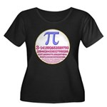 Pi-250 Women's Plus Size Scoop Neck Dark T-Shirt