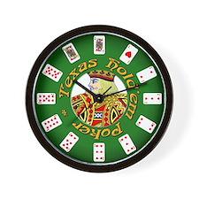 Texas Hold'em King Wall Clock