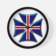 British Biker Cross Wall Clock