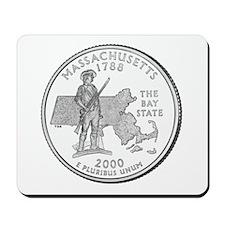 Massachusets State Quarter Mousepad