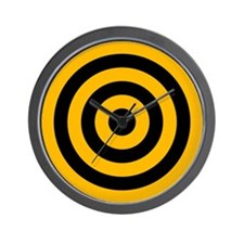 <b>YELLOW CIRCLES</b><br>Wall Clock