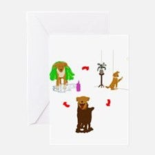 Mud Puppy Greeting Card