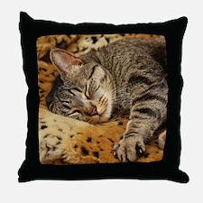 Sleeping Bud Throw Pillow