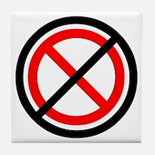 No Banning Tile Coaster