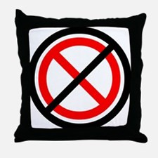 No Banning Throw Pillow
