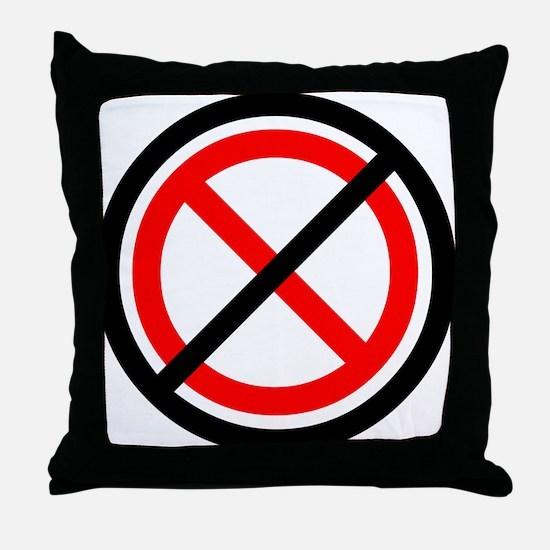 No Banning Throw Pillow