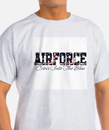 Airforce, Cross into the blue Ash Grey T-Shirt
