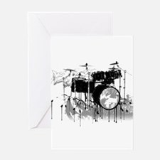Drum Set Graffiti Greeting Card