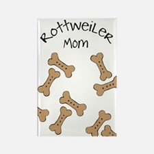 Biscuits Rottweiler Mom Rectangle Magnet