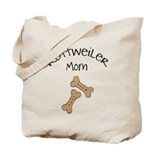 Biscuits Rottweiler Mom Tote Bag