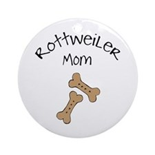 Biscuits Rottweiler Mom Ornament (Round)