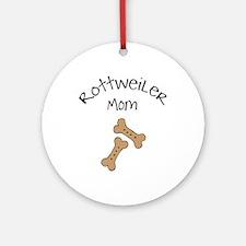 Biscuits Rottweiler Mom Ornament (Round)