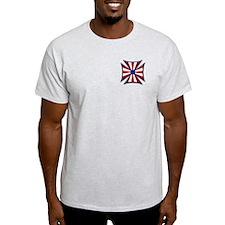 American Maltese Cross Ash Grey T-Shirt
