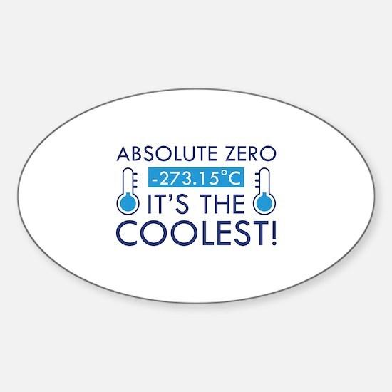 Absolute Zero Sticker (Oval)