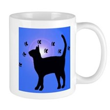 Blue Cat Pawprints Mug