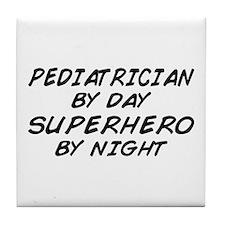 Pediatrician Superhero Tile Coaster