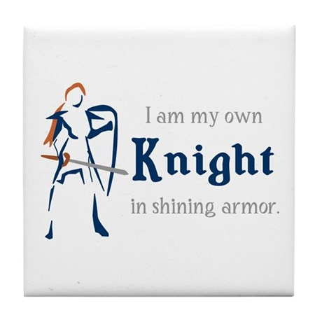 My Own Knight Tile Coaster