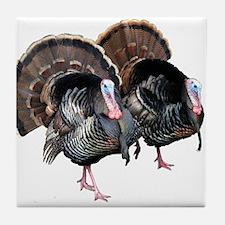 Wild Turkey Pair Tile Coaster