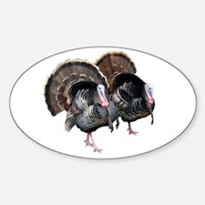 Wild Turkey Pair Oval Decal