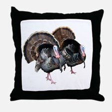Wild Turkey Pair Throw Pillow