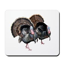 Wild Turkey Pair Mousepad