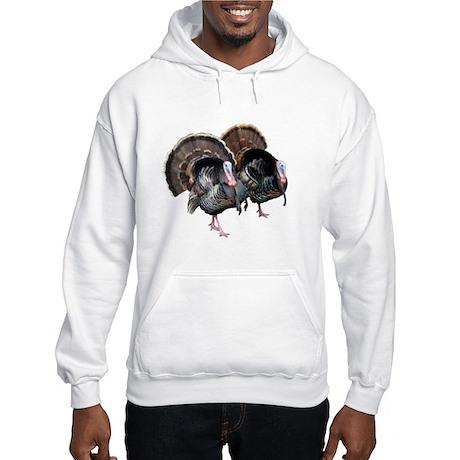 Wild Turkey Pair Hooded Sweatshirt