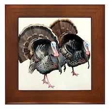 Wild Turkey Pair Framed Tile