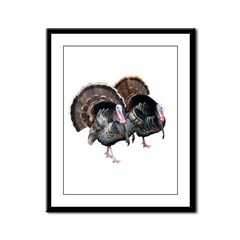 Wild Turkey Pair Framed Panel Print