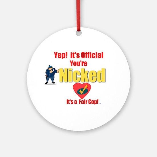 A Fair Cop.:-) Ornament (Round)