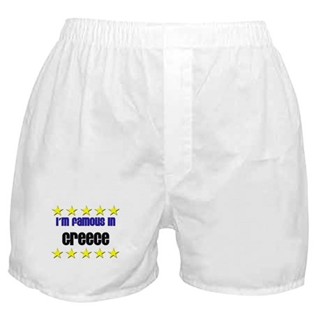 I'm Famous in Greece Boxer Shorts