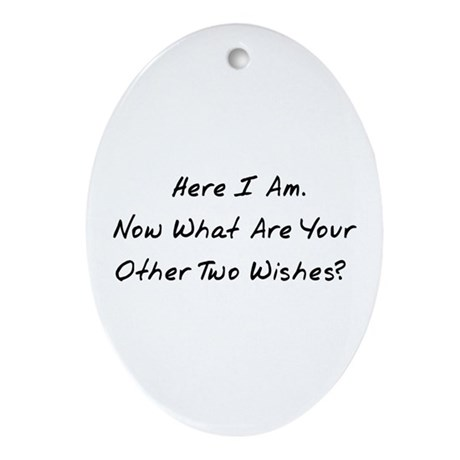 Three Wishes Oval Ornament