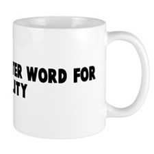 If a two letter word for futi Mug