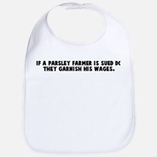 If a parsley farmer is sued d Bib