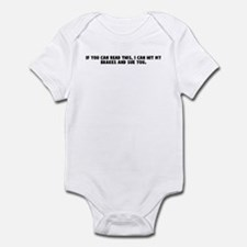 If you can read this I can hi Infant Bodysuit