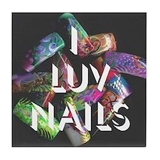 I Luv Nails Tile Coaster