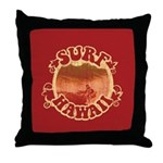 Surf Hawaii Throw Pillow