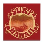 Surf Hawaii Tile Coaster