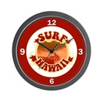 Surf Hawaii Wall Clock